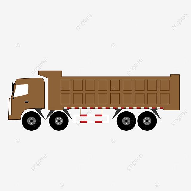 dark brown truck clip art