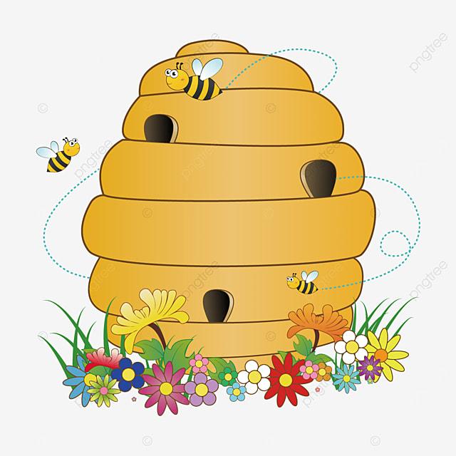 flowers parcel beehive clip art