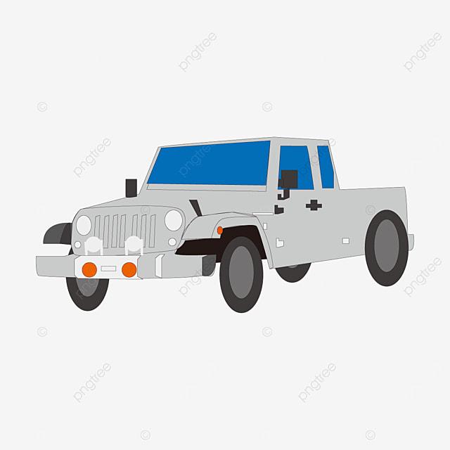four wheel jeep clip art
