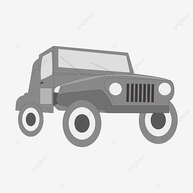 gray jeep clip art