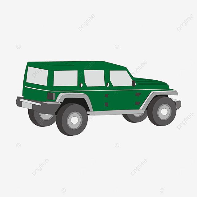 green jeep clip art