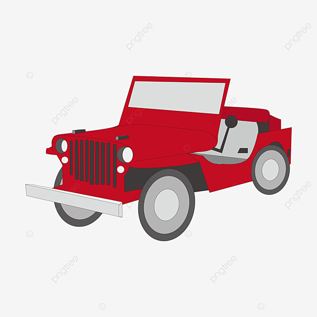 line drawing jeep clipart