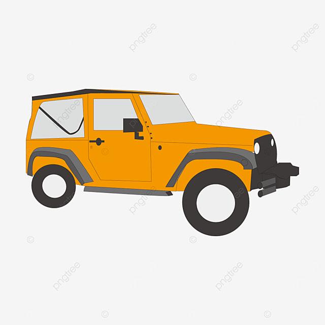 orange jeep clip art