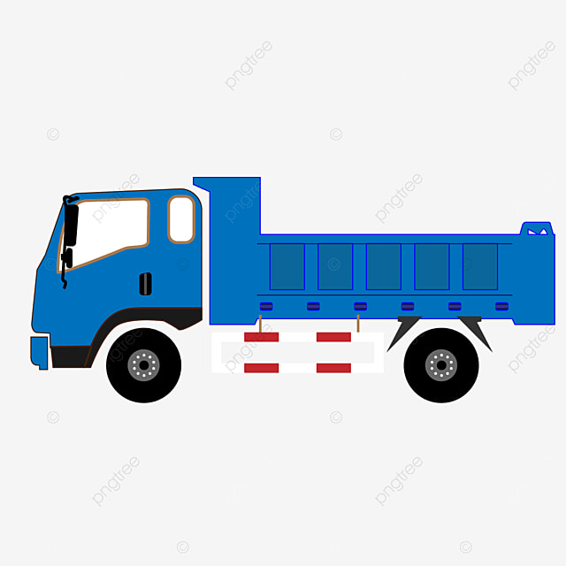 pure blue truck clip art