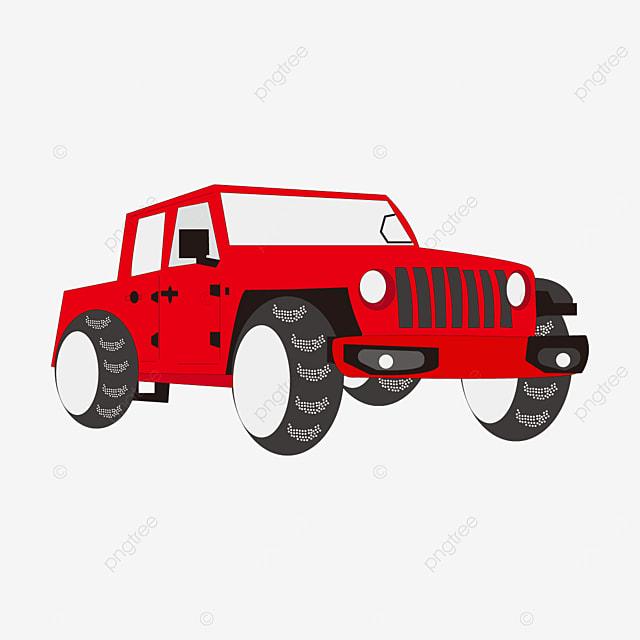 red jeep clip art