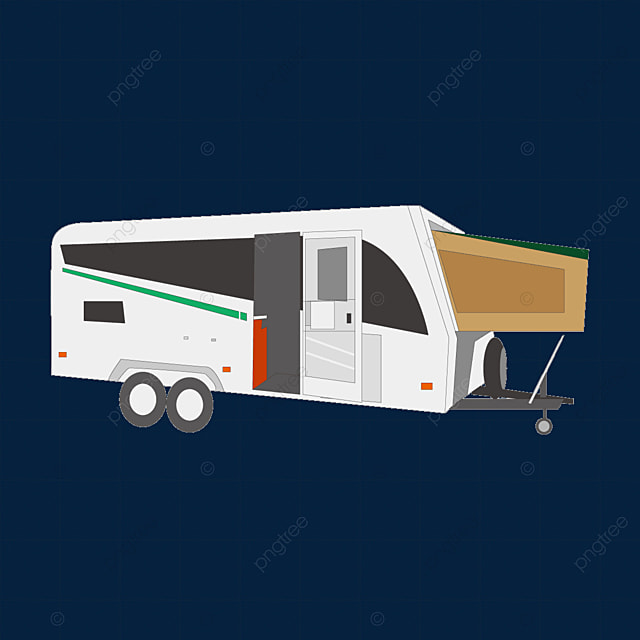 rv with tent clip art