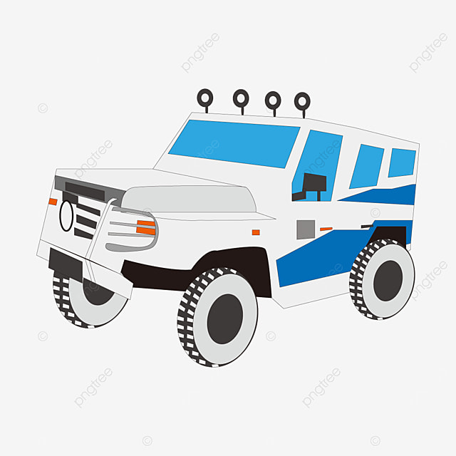 white jeep clipart