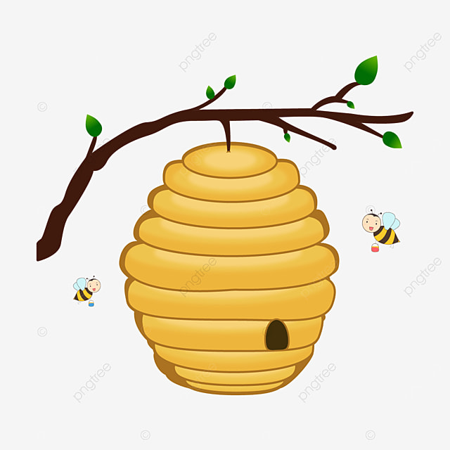 yellow beehive clip art