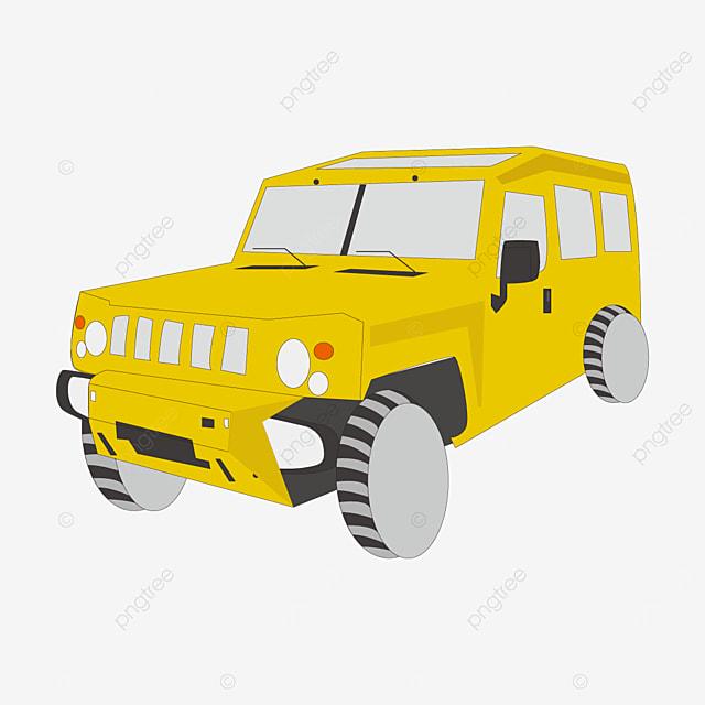 yellow jeep clip art