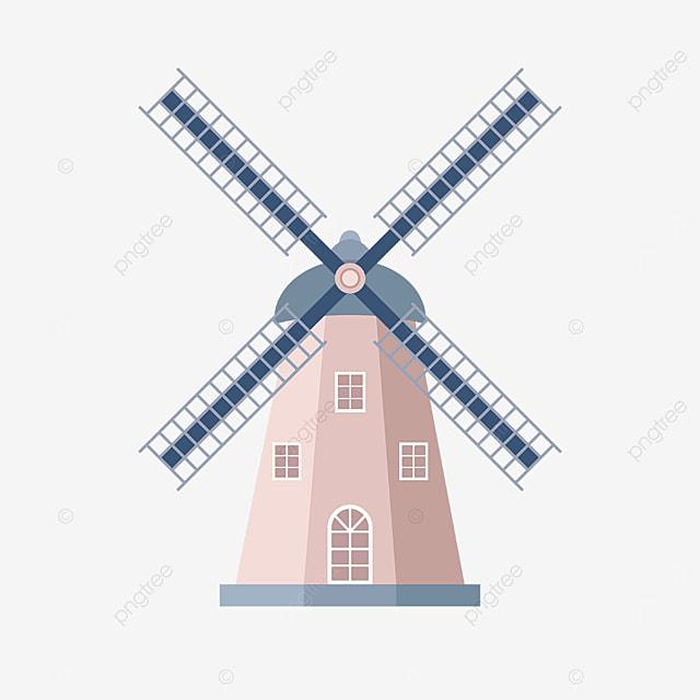 beige windmill clip art