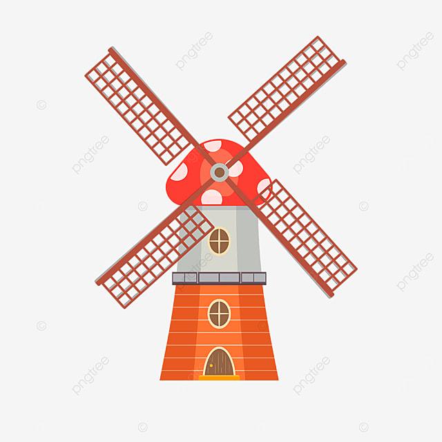 mushroom windmill clip art
