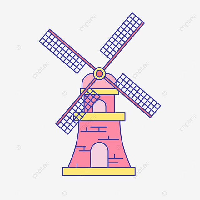 pink windmill clip art