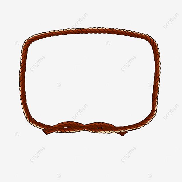 square border decorative brown rope clipart