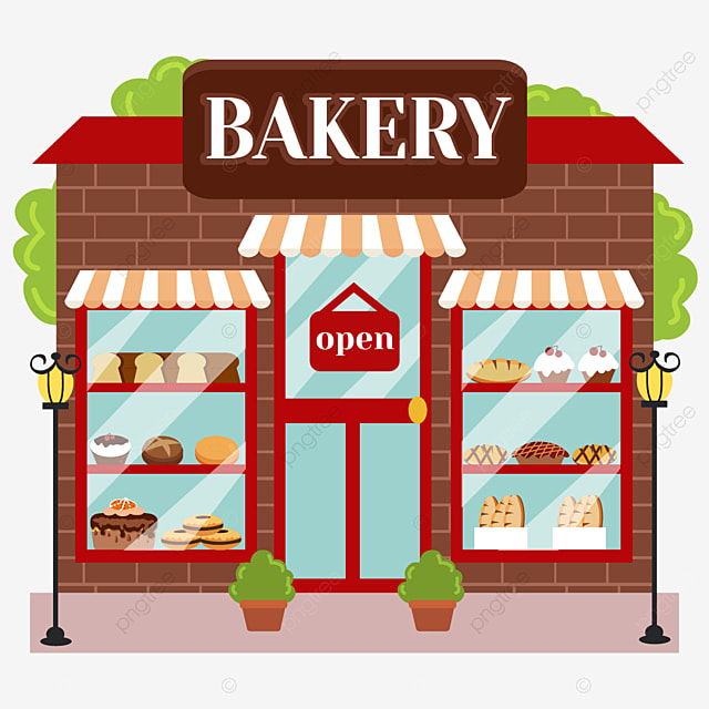 Bakery Shop Window Clip Art Bakery Display Styleow Clipart Png And Vector With Transparent Background For Free Download