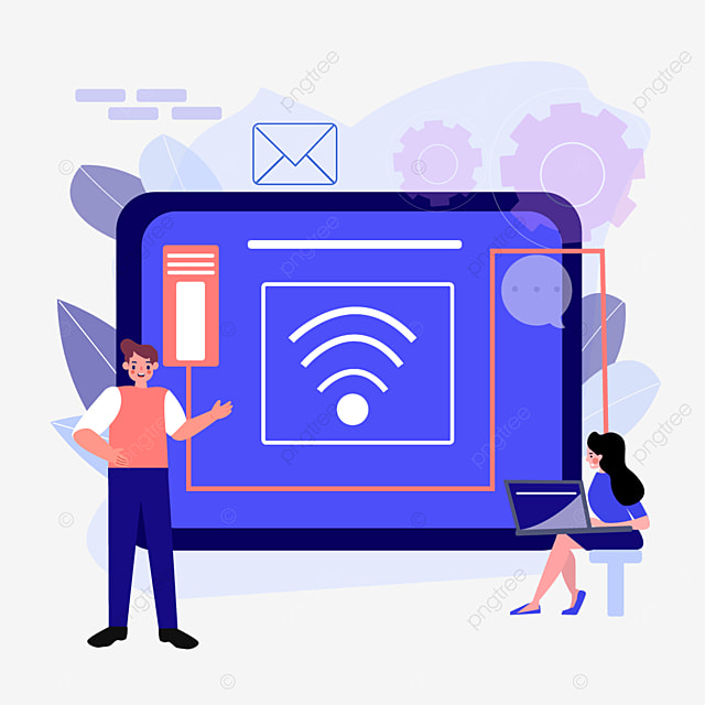computer online connection concept illustration