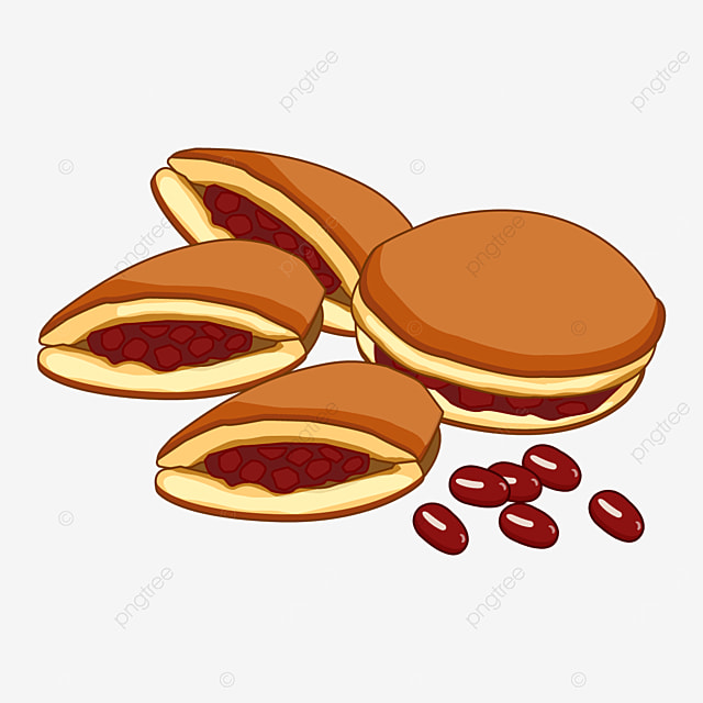 japanese dorayaki with delicious red bean paste