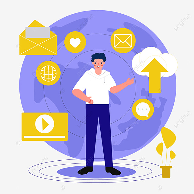 online connection concept icon illustration