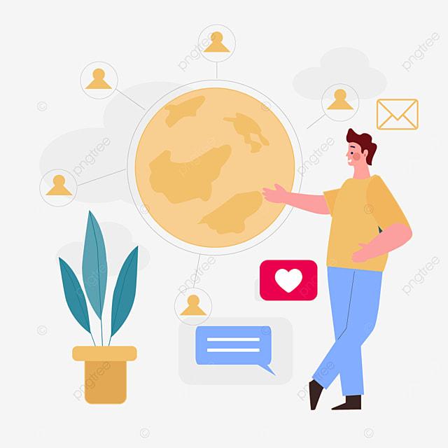 online connection concept illustration