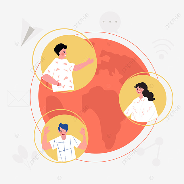 online connection dialogue concept illustration