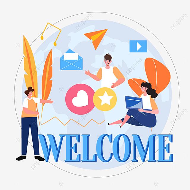 online connection information exchange concept illustration