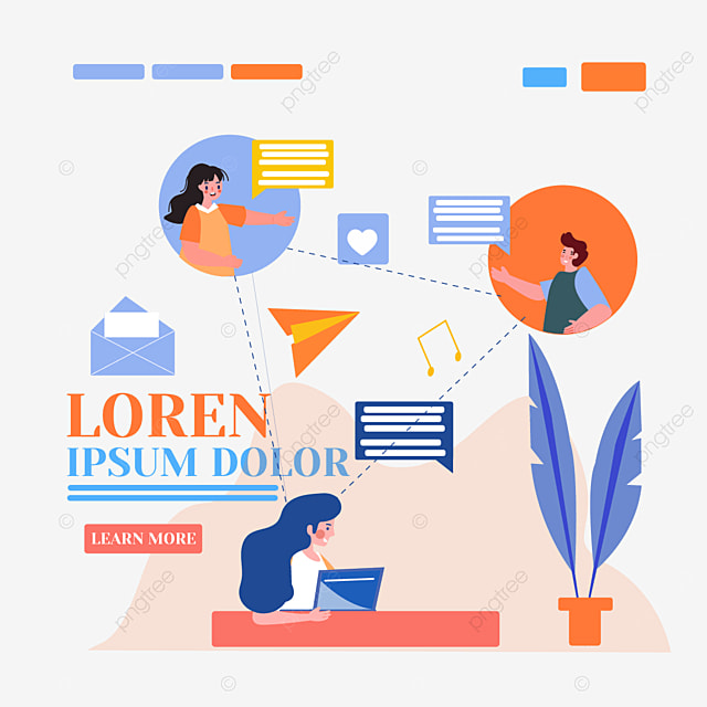 online connection lines concept illustration