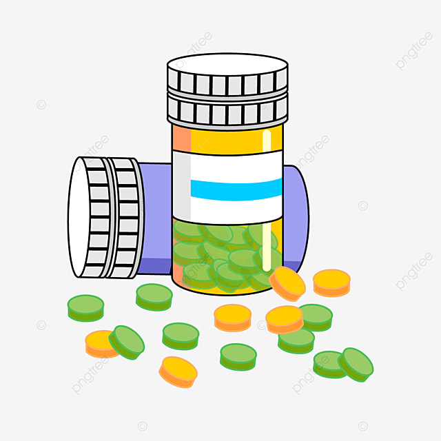 yellow and purple medicine bottle clipart