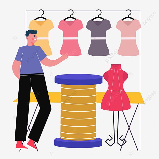 abstract yellow spool drawing fashion designer illustration