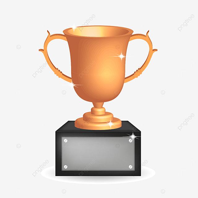 trophy golden 3d champion celebration