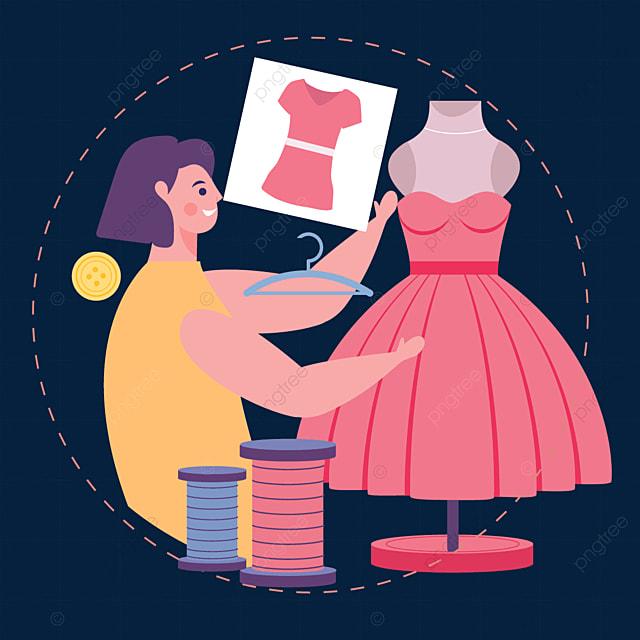 draw a fashion designer line illustration