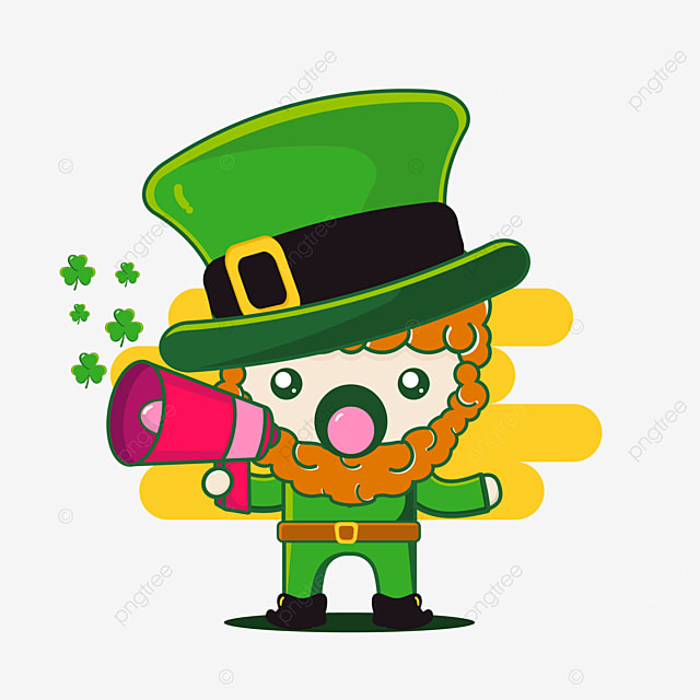 cute st patrick character with toa