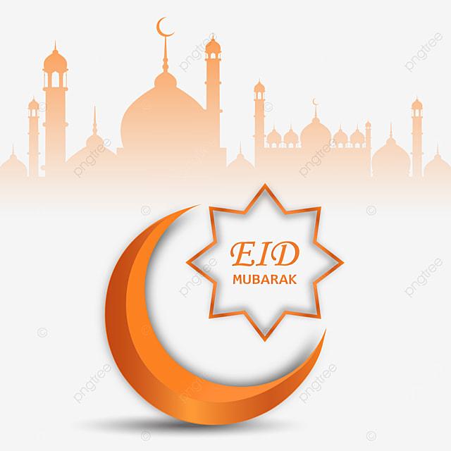 eid mubarak 3d design with transparent background