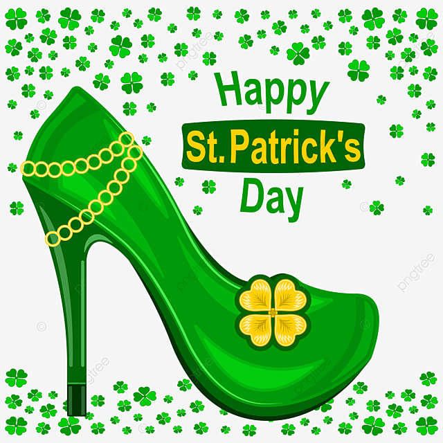happy st patrick day green womens high heeled shoes