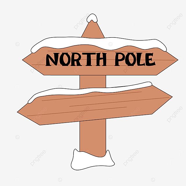 arctic brown wood signpost clip art