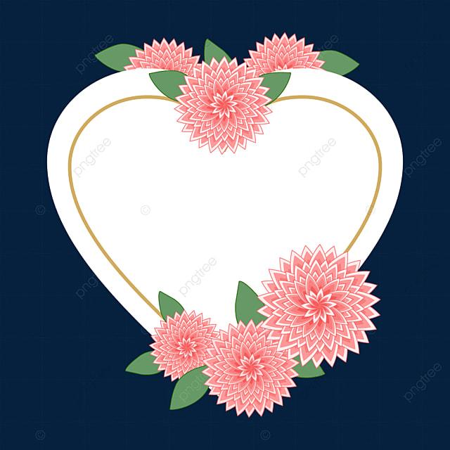 beautiful love heart shaped dahlia border
