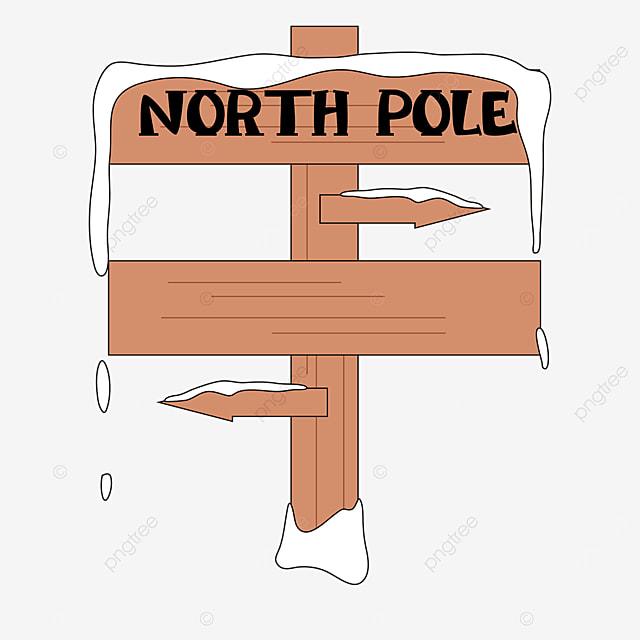 brown wood arctic road sign clip art