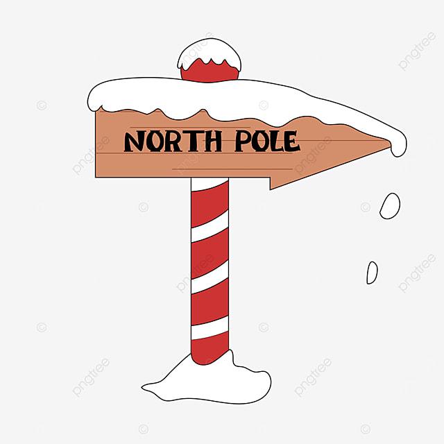 clip art arctic brown wood signpost
