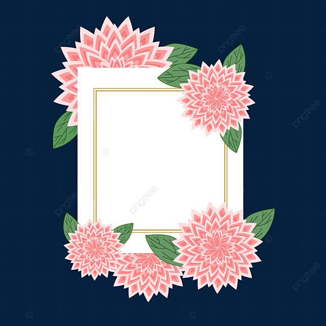 cute and beautiful dahlia border