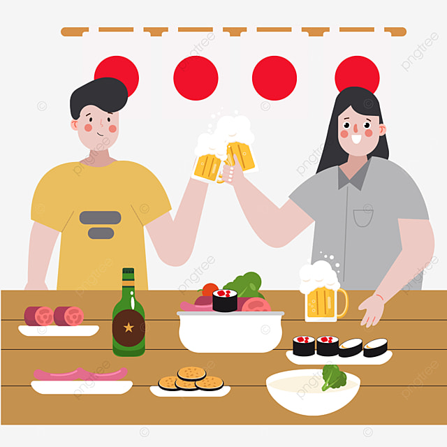 japanese new year party