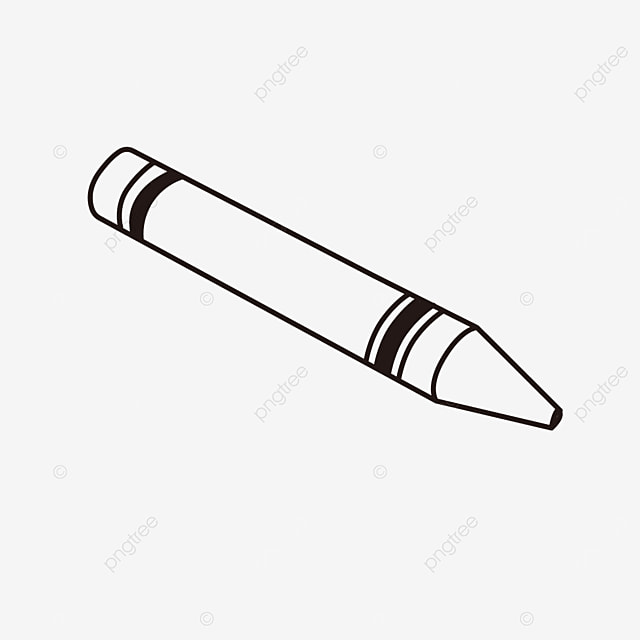 a painting item stationery crayons clipart black and white