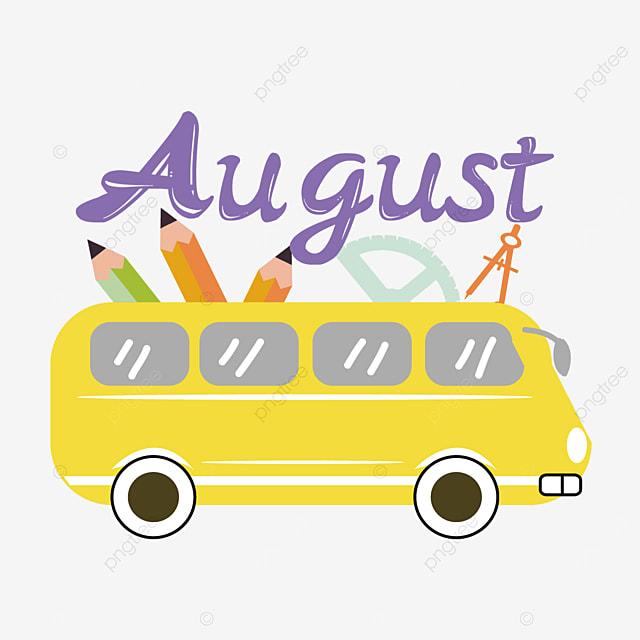 august bus clip art svg