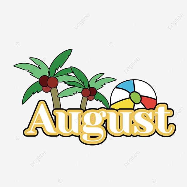 august coconut tree clip art svg