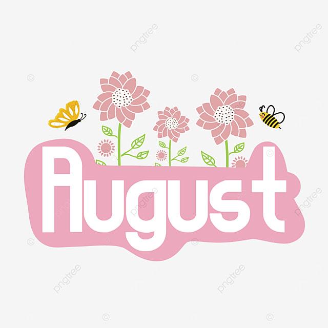 august flower clip art svg