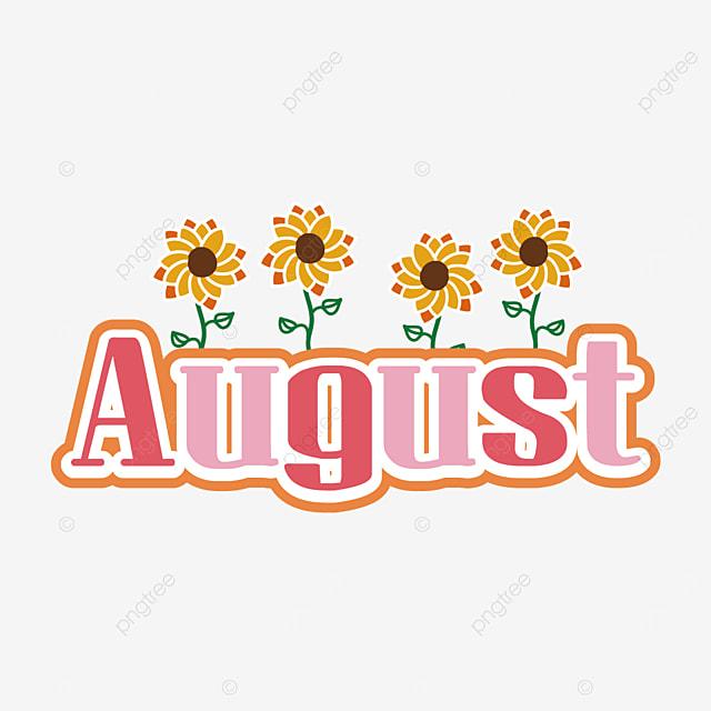 august pink clip art svg