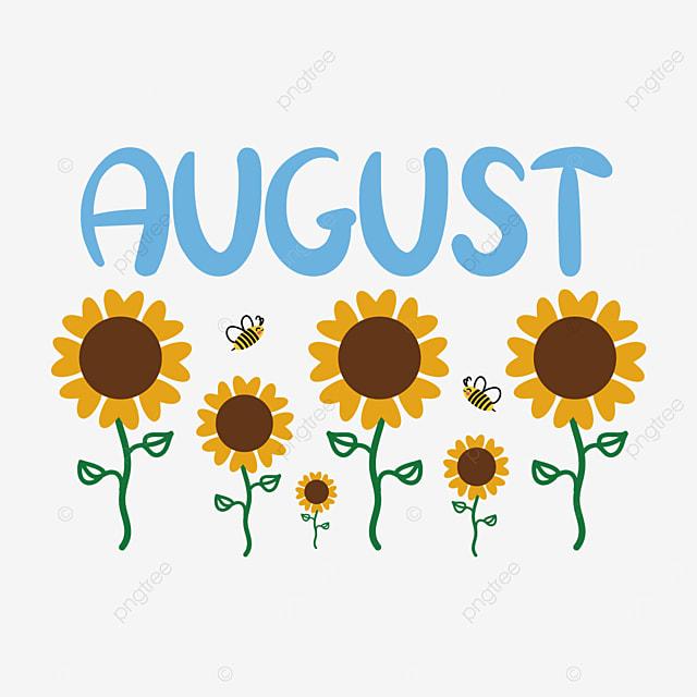 august sunflower clip art svg