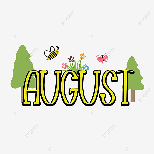 august yellow font clipart svg