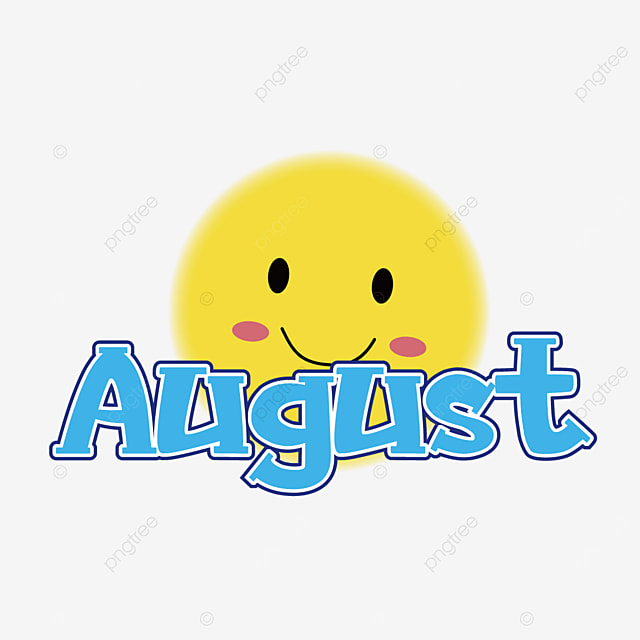august yellow smiley clipart svg