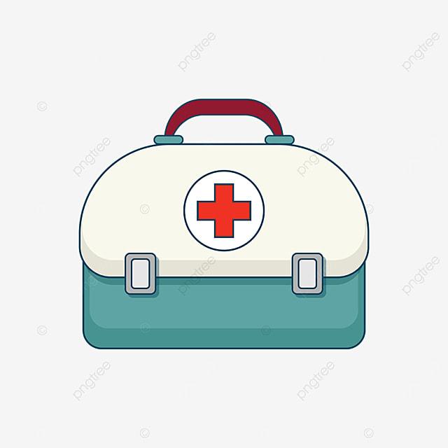 beige green first aid box clip art