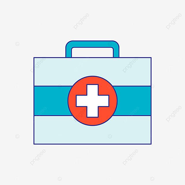 blue first aid kit clipart