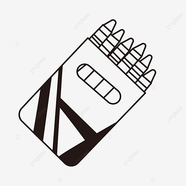 box packaging paint painting crayons clipart black and white