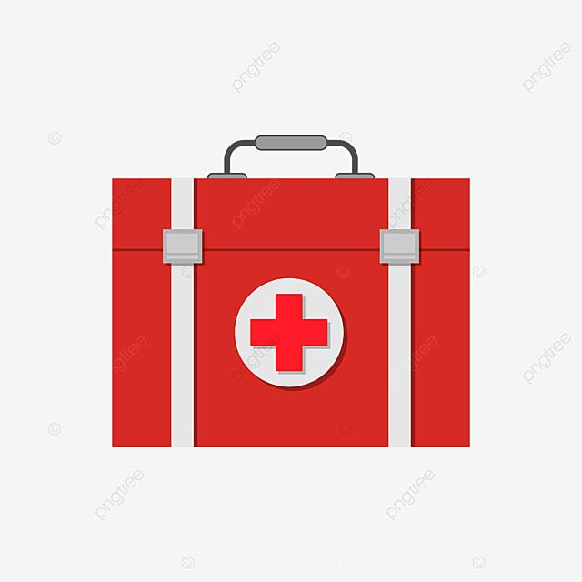 crimson first aid box clip art